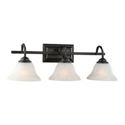 Design House - Design House 514901 Drake Rustic 3 Light Down Lighting Bathroom Vanity Fixture w - Design House Drake 3 Light Vanity LightThe Rustic Charm Of The Twisted Rods, The Classic Lines And The Bronze Finish Of The Drake Family Make It A Perfect Choice For A Multitude Of Décors.