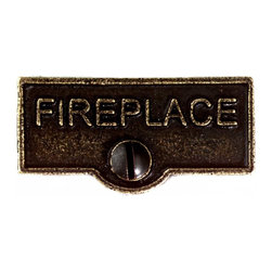 Renovators Supply - Switch Plate Tags Antique Brass 1 11/16'' W FIREPLACE Switch Tag - Forget which switch is for what? Try our ID switchplate tags and identify your switches. Our switchplate ID tags are made from SOLID CAST BRASS and come with a TARNISH-RESISTANT ANTIQUE BRASS finish. EASY installation and fits standard switchplates. Coordinating screw included. Measures 13/16 in. H x 1 11/16 in. W.