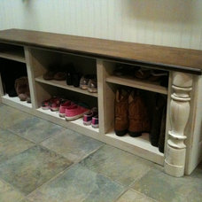 Traditional Clothes And Shoes Organizers by JB Woodwork