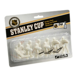 Stiga - Stiga NHL Paint Your Own Team Pack - White - 7111-9090-40 - Shop for Games & Puzzles from Hayneedle.com! If you've ever thought you could create a better stronger faster NHL team now you can. The Stiga NHL Paint Your Own Team Pack - White includes plain white 3-D players ready for personalization. Dream up your team name logo and uniform design then bring it to life on these players which easily affix to any Stiga game tables.Each of the players in this pack are crafted with durable polystyrene three-dimensionally shaped for realistic character. Each pack contains six key players all of which are interchangeable with the existing players on Stiga game tables. Pit your team against one of our other pre-painted teams or create two teams of your own.About Stiga GamesStiga Games has been bringing table game enthusiasts the best in the business since 1957. More than 5 million games have been sold since the first Stiga table hockey game hit the market including table tennis snow game badminton and floor ball products. Today Stiga Games sells to more than 30 countries worldwide keeping the tradition of home-based non-computer games alive and well. Stiga table hockey games are the only officially licensed table hockey games of the NHL and every part of every table is replaceable meaning these games can be enjoyed for years to come.