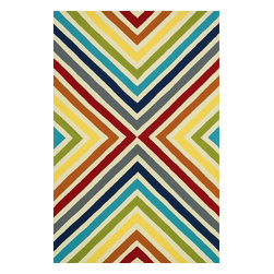 "Loloi - Indoor/Outdoor Palm Springs 3'6""x5'6"" Rectangle Multi Area Rug - The Palm Springs area rug Collection offers an affordable assortment of Indoor/Outdoor stylings. Palm Springs features a blend of natural Multi color. Handmade of 100% Polypropylene the Palm Springs Collection is an intriguing compliment to any decor."