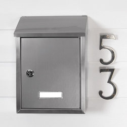 Smart Locking Wall-Mount Mailbox - Stainless Steel - Featuring a timeless linear design, the Smart Locking Wall-Mount Mailbox has a slanted lid and crisp, defined edges. Its understated style and Stainless Steel finish make it a great addition to newer and older homes alike.