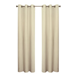 Commonwealth Home Fashions - Thermalogic? Natural 160 x 84-Inch Weathermate Grommet Top Two Panel Pair - - A solid color insulated Cotton duck fabric  - Twelve Antique Brass metal grommets per panel  - 1-inch side hems and 3-inch bottom hem  - Pocket Construction: Grommet top  - Additional Necessary Hardware: Decorative Rod  - Laundry Instruction: Washable  - Lining Fabric: 100% Acrylic Suede Commonwealth Home Fashions - 70370188160084103