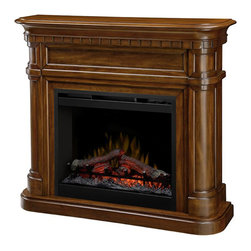 Dimplex - Dimplex Charleston Mantel - Dimplex - Electric Fireplaces - DFP261336BW - The rich burnished walnut finish curved hearth carved details and dentil moldings give this fireplace a sophisticated presence that will enhance the feeling of any room. Incredible details in one small package.