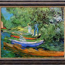Amanti Art - Bank of the Oise at Auvers, 1890  by Vincent van Gogh - *Artist: Vincent van Gogh