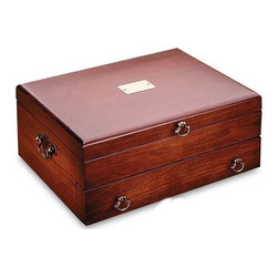 Reed & Barton - Bristol Cherry Silverware Chest with Brown Lining - Features: -Cherry or brown bristol. -Lined with tarnish-preventive silver cloth. -Perfect for keeping silver flatware safe. -Color: Cherry or brown. Specifications: -Material: Wood. -Hand wash recommended.