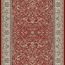 "Dynamic - Ancient Garden 31"" Runner Traditional Stair Runner - Stair & Hallway Runners Are Sold By The Linear Foot!  Quantity 1 = 1 Linear Ft  All Sides Are Finished   Anc't Gard  57078-1414 31 Dynamic Rugs"