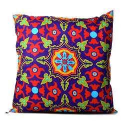 "Concepts Life - Concepts Life Decorative Throw Pillow  Moroccan Medallion   Purple - Just as in life, every room needs a touch of pizzazz. You'll never be bored of these bright Moroccan Throw Pillows, which add just the right amount of ""umph"" to an otherwise conservative space.  Beautiful pattern printed on fabric Materials: Polyester cover with poly filler Spot clean Dimensions: 16""h x 16""w Weight: 1 lb Pillow arrives in a vacuum sealed bag Once the pillow is aired and fluffed it regains its full, soft and plump shape"