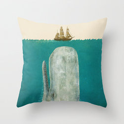 Moby Throw Pillow - It's Moby Dick on a pillow!