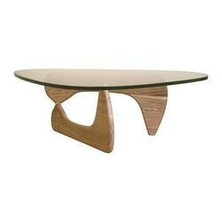 Mod Made Furniture - Mod Made Tribeca Coffee Table in Natural - The Tribeca wood base is sculpture visible through the top arranged in an intriguing top to bottom fashion. This mid-century design will definitely bring style and class to any room.