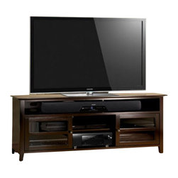"Bello - Bello 75"" Wood TV Stand in Dark Espresso Finish - Bello - TV Stands - WAVS99175 - This impressive Dark Espresso finished wood Audio Video cabinet offers versatility and functionality with a finely crafted elegant design."