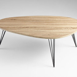Cyan Design - Lunar Landing Coffee Table - Lunar landing coffee table - oak