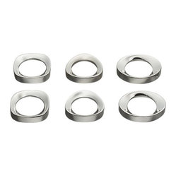 Set of 6 Elegant Shapes Napkin Rings