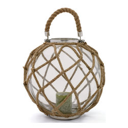 Buoy Lantern - Your home aura is highly influenced with the surrounding ambience that you create around yourself. This Vintage Industrial Chic Lantern is simply an eye-catching home ative accessory. This will surely transform the dull looking corners of your Tuscan villa style home into bliss. It has a cage like structure which is distinctively designed to flaunt an aesthetic sense. The craftsman has designed the lantern with quality iron and wrapped it with the tactfully woven rope at top and bottom surface area. Be carefree while lighting candles as this helps you to lighten up your space in a more secured way.