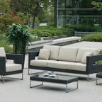 Patio Furniture Deep Seating - Our sleek Vilano Collection features 304 stainless steel accents. The bold design is finished in your choice of Sunbrella fabrics.