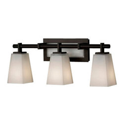Murray Feiss - 3 Bulb Oil Rubbed Bronze Vanity - - UL Damp Approved.