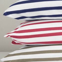 French Stripe Jersey-Knit Bedding - Striped sheets add a graphic punch to your bed, even if you keep the rest of your bedding simple.