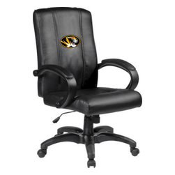 Dreamseat Inc. - University of Missouri NCAA Tigers Home Office Chair - Check out this Awesome - it's one of the coolest things we've ever seen. Features a zip-in-zip-out logo panel embroidered with 70,000 stitches. Converts from a solid color to custom-logo furniture in seconds - perfect for a shared or multi-purpose room. Root for several teams? Simply swap the panels out when the seasons change. This is a true statement piece that is perfect for your Man Cave or Home Office, and it's a must-have for the person who wants to personalize their work space.