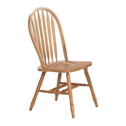 Winners Only - Farmhouse Arrow Back Side Chair - Set of 2 - Set of 2. Wooden seat. No assembly required. 19 in. W x 21.5 in. W x 38 in. H (18 lbs.)