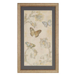 Paragon - Papillion Decoratif II - Framed Art - Each product is custom made upon order so there might be small variations from the picture displayed. No two pieces are exactly alike.
