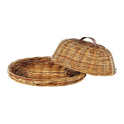 Eco Displayware - Oval Domed Rattan Tray in Natural - Earth friendly. 18 in. L x 15.5 in. W x 7 in. H (7.1 lbs.)Using these tray baskets can add an old world touch to your dining table.