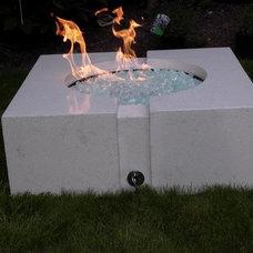Modern Fire Pits by SAK Concrete Designs