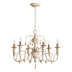 "Quorum International - Quorum 6016-6-70 Salento 25""/6Lt Chandelier -Pw - Quorum 6016-6-70 Salento 25""/6LT Chandelier -Pw"