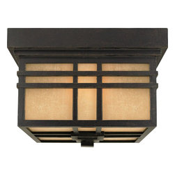 Quoizel Lighting - Craftsman Mission 2 Light Outdoor Ceiling FixtureHillcrest Collection - A design made for classic Arts & Crafts style homes, but looks great on contemporary or modern homes as well.