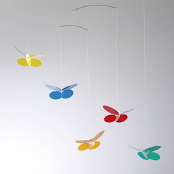Butterflies Mobile - This romantic butterflymobile is suitable for a sun porch as well as a any child's room.