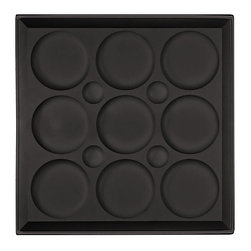 """Roman Circle Ceiling Tile - Black - Perfect for both commercial and residential applications, these tiles are made from thick .03"""" vinyl plastic. Their lightweight yet durable construction make these tiles easy to install. Waterproof, these tiles are washable and won't stain due to humidity or mildew. A perfect choice for anyone wanting to add that designer touch at an amazing price."""