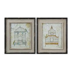 Uttermost - Uttermost Bird Cages Wall Art Set/2 - 51089 - Uttermost Bird Cages Wall Art Set/2 - 51089