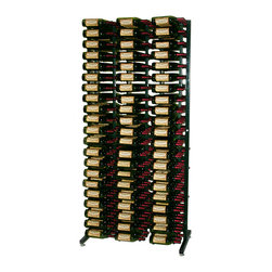 """VintageView - VintageView 378 Bottle Freestanding Wine Rack, Satin Black - Ultimate wine storage capacity in a single metal wine rack. Bottle storage on this 7' frame includes six WS33 racks and six WS43 racks. This rack promises lifetime durability and easy cleaning to preserve that """"new look"""" for a long time after purchase."""