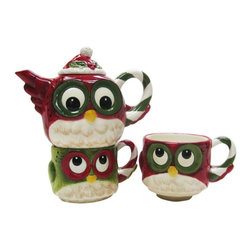 Cosmos - Tea For Two Set Multicolor Owl with Two Cups and Teapot - This gorgeous Tea For Two Set Multicolor Owl with Two Cups and Teapot has the finest details and highest quality you will find anywhere! Tea For Two Set Multicolor Owl with Two Cups and Teapot is truly remarkable.