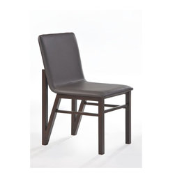 New Spec - Side Chair - Set of 2 - Set of 2. Dark brown high level PU material cushion and rubber wood on frame. 19.29 in. W x 23.43 in. D x 33.66 in. H (15 lbs)