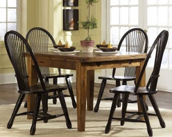 Treasures Extension Rectangular Leg Dining Table - Rustic Oak, Liberty -