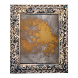 """Art Dallas, Incorporated - Art Dallas Antique Mirror - Monet - An Art Dallas handcrafted """"Monet"""" Antique Mirror framed with our Flash® molding with a blue undercoat."""