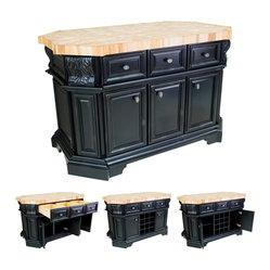 Hardware Resources - Lyn Design ISL06 Kitchen Island without Top - Welcome to the Taj Mahal of ...