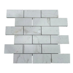 """GL Stone - White Marble Subway Brick Mosaic Tile Polished, 1 Carton ( 10 Sheets ) - 2""""x4"""" mosaic. The brick mosaic comes with polished tile and grey vein natural color. The subway pattern is popular shaped for the interior decor. The white mosaic is a great way to enhance the decor of interior project, such as bathroom floor, shower surround, kitchen floor, dining room, balcony, etc."""