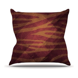 """Kess InHouse - Nick Atkinson """"Red Zebra Texture"""" Throw Pillow (Outdoor, 26"""" x 26"""") - Decorate your backyard, patio or even take it on a picnic with the Kess Inhouse outdoor throw pillow! Complete your backyard by adding unique artwork, patterns, illustrations and colors! Be the envy of your neighbors and friends with this long lasting outdoor artistic and innovative pillow. These pillows are printed on both sides for added pizzazz!"""