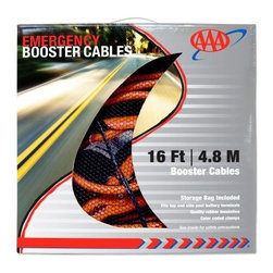 AAA 16 ft. 6 Gauge Booster Cable - Breathe life into your car's dead battery by using the Lifeline First Aid LLC 16 ft. 6 Gauge Booster Cable. Connect the cable to fit the side or top post battery terminals of your car, and easily jump-start the dead battery. The cable is 16-feet in length, and will be of great use while on the road. An absolute must-have, the high-quality cable is rubber-insulated, which offers it both durability and sturdiness.About AAAAAA has been helping Americans enjoy safer automotive travel for over 100 years. With a vast network of resources and a wide customer base, there's no surprise AAA is known as The Most Trusted Name in Travel. They've teamed up with Lifeline, one of the leading suppliers of first aid and emergency kits, to bring you a collection of travel assistance packages designed to make the road a safer place.
