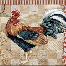 The Tile Mural Store (USA) - Tile Mural - Pb - Bergerac Rooster Ii - Kitchen Backsplash Ideas - This beautiful artwork by Paul Brent has been digitally reproduced for tiles and depicts a colorful rooster.  Rooster tile murals and decorative tiles with roosters are the perfect addition to your kitchen backsplash tile project. You can't go wrong with any of our decorative rooster tiles - each one is beautiful and will certainly add interest to your kitchen wall tile. Tile murals of roosters are timeless and will never go out of style. Add something unique to your kitchen backsplash behind your stove or sink.