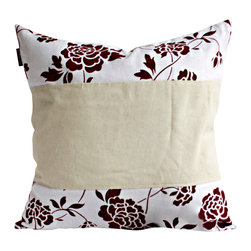 Blancho Bedding - [Floral Ocean] Linen Stylish Patch Work Pillow Floor Cushion 19.7 by 19.7 inches - Aesthetics and Functionality Combined. Hug and wrap your arms around this stylish decorative pillow measuring 19.7 by 19.7 inches, offering a sense of warmth and comfort to home buddies and outdoors people alike. Find a friend in its team of skilled and creative designers as they seek to use materials only of the highest quality. This art pillow by Onitiva features contemporary design, modern elegance and fine construction. The pillow is made to have invisible zippers, linen shells and fill-down alternative. The rich look and feel, extraordinary textures and vivid colors of this comfy pillow transforms an ordinary, dull room into an exciting and luxurious place for rest and recreation. Suitable for your living room, bedroom, office and patio. It will surely add a touch of life, variety and magic to any rooms in your home. The pillow has a hidden side zipper to remove the center fill for easy washing of the cover if needed.