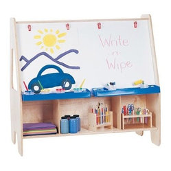 Jonti-Craft Twin Activity Center Childrens Easel - About Jonti-CraftFamily-owned and -operated out of Wabasso Minn. Jonti-Craft is a leading provider of quality furniture for the early learning market. It offers a wide selection of creatively designed products in both wood and laminate materials. Its products are packed with features that make them safe functional and affordable. Jonti-Craft products are built using the strongest construction techniques available to ensure that your furniture purchase will last a lifetime.