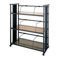 Dainolite - Oil Brushed Bronze Elegant Bookcase Bronze Glass - -Main Body Material: Steel