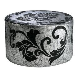 Cyan Design - York Round Ottoman - Weight: 17.6lbs.