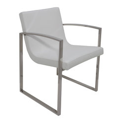 Clara Lounge Chair, White, Set of 2