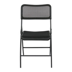 Office Star - Office Star FF Series Collection Folding Chair with Screen Seat and Back - Office Star FF Series Collection Folding Chair with Screen Seat and Back