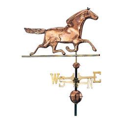 Whitehall Products LLC - Copper Horse Weathervane - Polished - Color: Polished