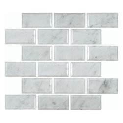 "MS International - Greecian 12"" x 12"" Polished Beveled Marble Mesh Mounted Tile in White-5 Sheets - Greecian White 2 in. x 4 in. Polished Beveled Marble Mesh-Mounted Mosaic Floor and Wall Tile for your Bathroom and Kitchen Remodeling Projects. Mosaic Pieces are meshed on 12 x 12 Sheets. Polished FINISH. Best suited for both residential and commercial projects. Each sheet is a little less than a square foot. Approximately 0.95 sqf"