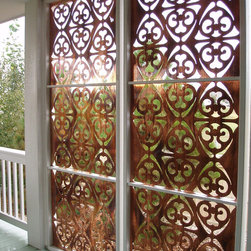 Parasoleil patterns - all-weather privacy screen for porch, deck, & patio